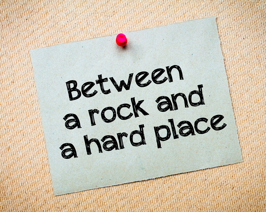 Does marketing your small business have you feeling like you are stuck between the rock and a hard place?